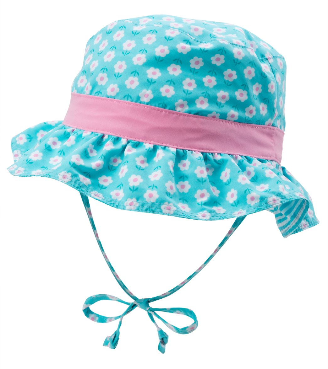 iPlay Girls  Classic Reversible Ruffle Bucket Hat (0mos-4T) at  SwimOutlet.com ce0f081418d