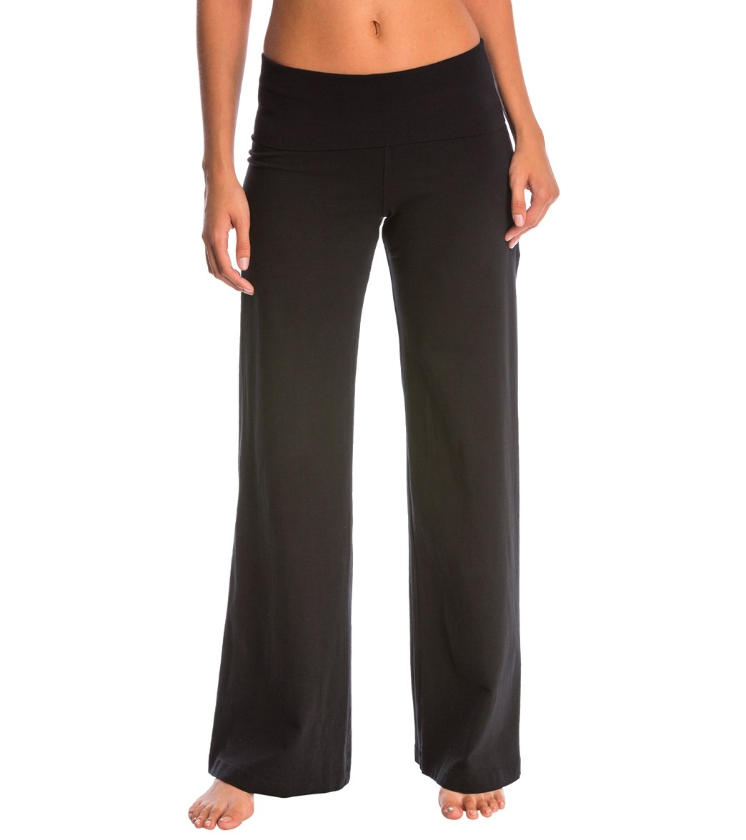 daaf2206c338d Hard Tail Contour Rolldown Wide Leg Yoga Pants at YogaOutlet.com ...
