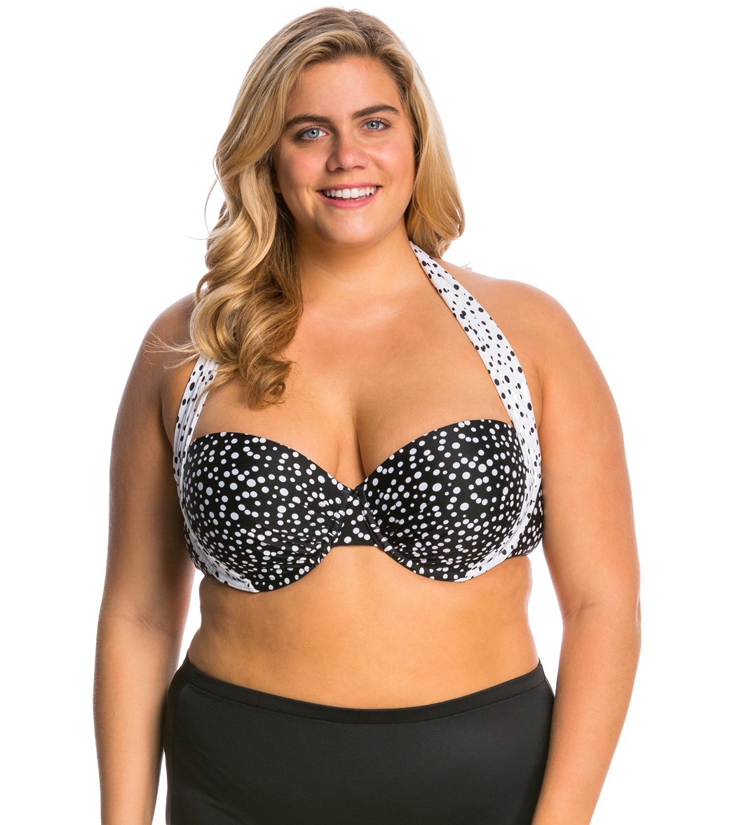 a9b2a7f08be Sunsets Plus Size Spot On Convertible Bikini Top (E F Cup) at ...