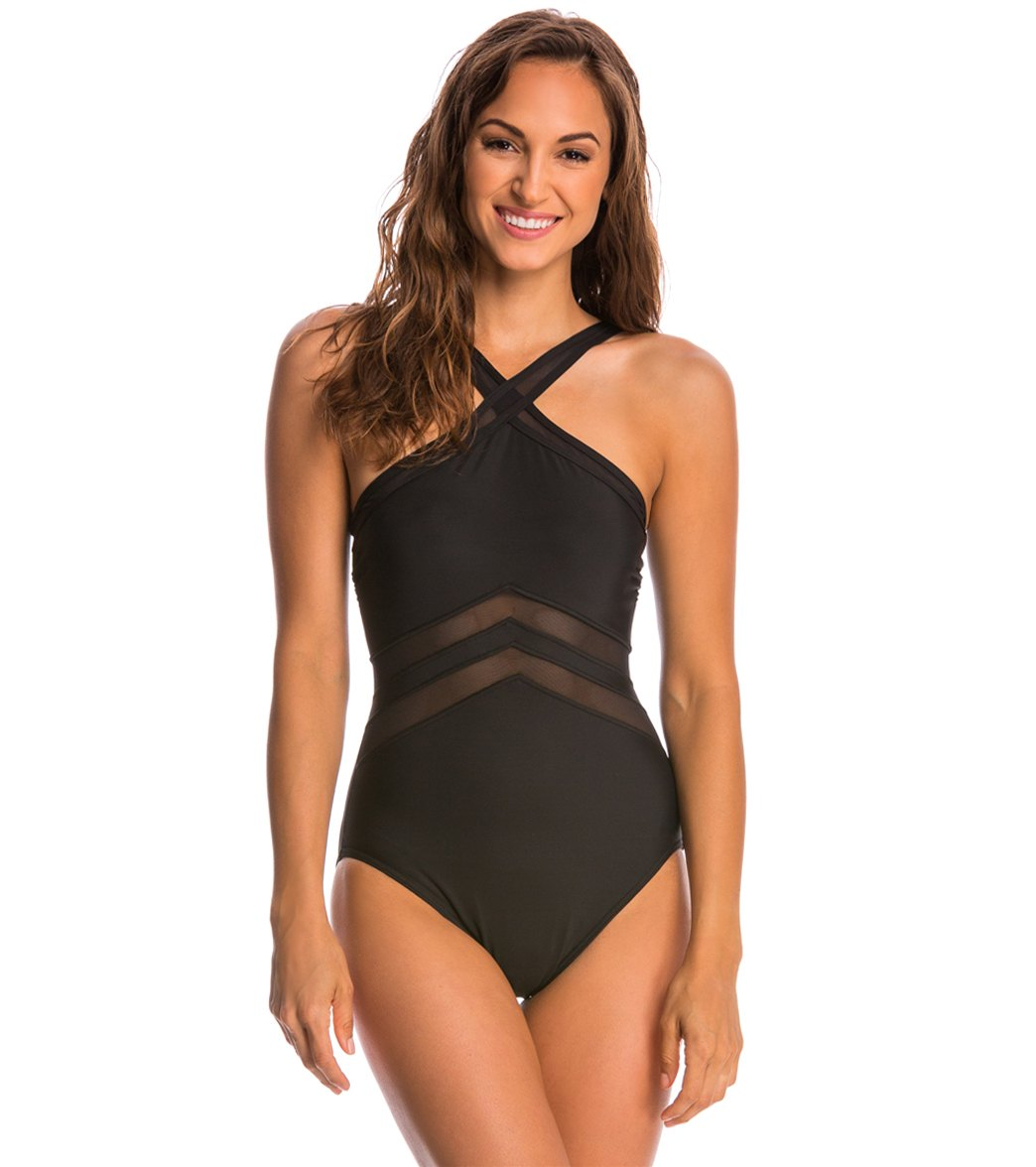 ca96b527bfe Miraclesuit Point of View High Neck One Piece Swimsuit at ...