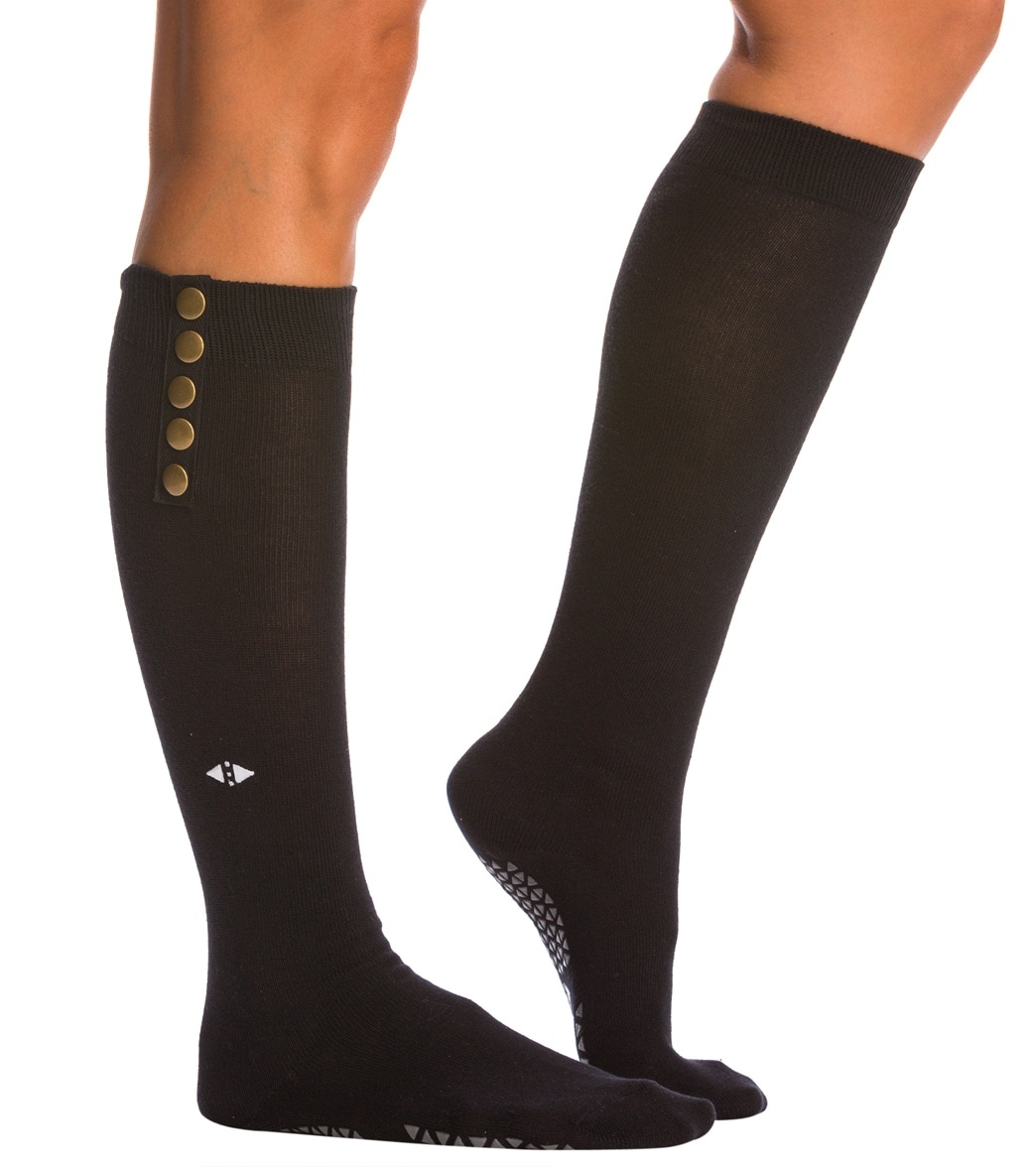 274d611a469 Tavi Noir Stella Knee High Barre Grip Socks at YogaOutlet.com