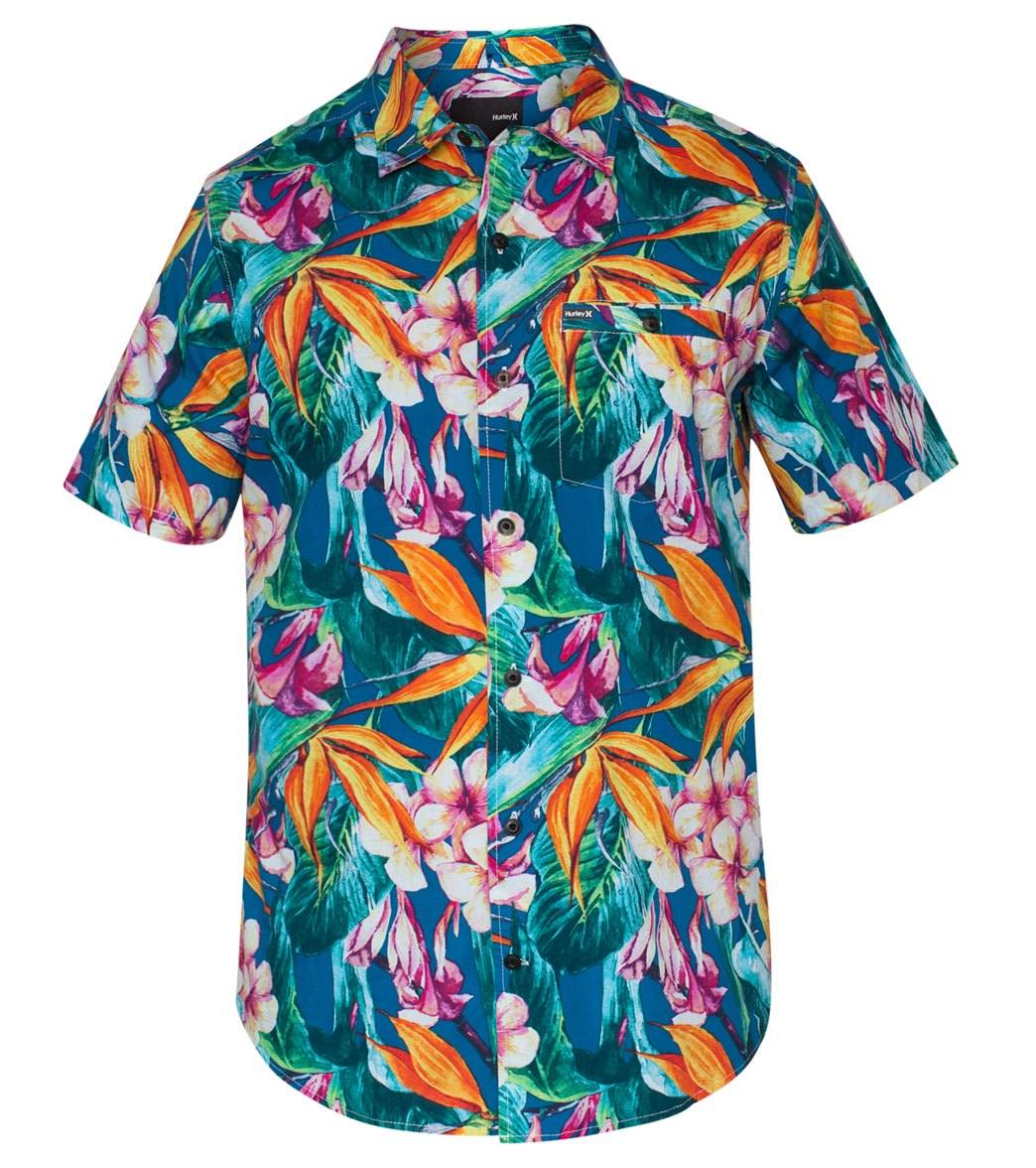 38a5e826bd3 Hurley Men s Beach Cruiser Short Sleeve Shirt at SwimOutlet.com - Free  Shipping