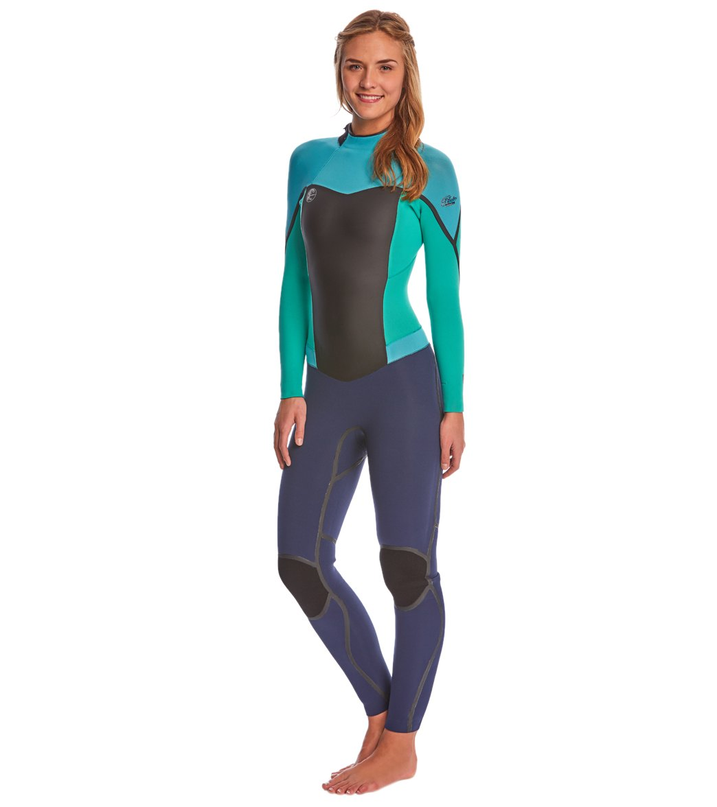 080940fd7a O Neill Women s 3 2MM Flair Z.E.N. Back Zip Fullsuit Wetsuit at ...