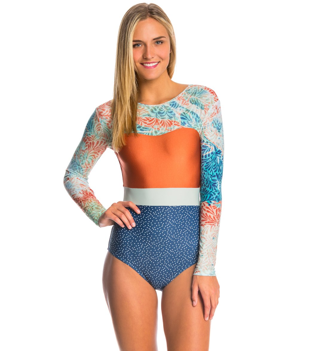 aa11db785dc Seea Verano Hermosa L S One Piece Swimsuit at SwimOutlet.com - Free Shipping