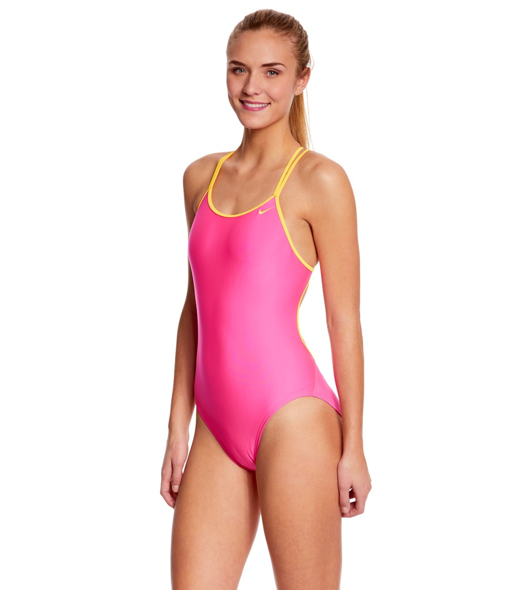 080e079fe35 Nike SwimOutlet Exclusive Solid Spiderback Tank One Piece Swimsuit ...