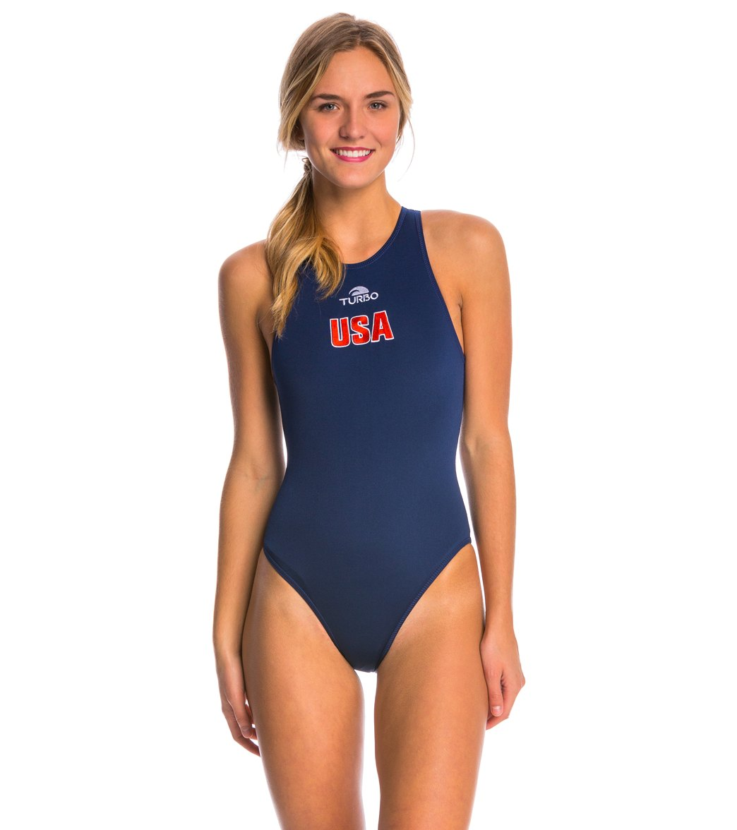 Turbo Team USA Women s Olympic Comfort Water Polo Suit at SwimOutlet.com -  Free Shipping 3b5e8c99da