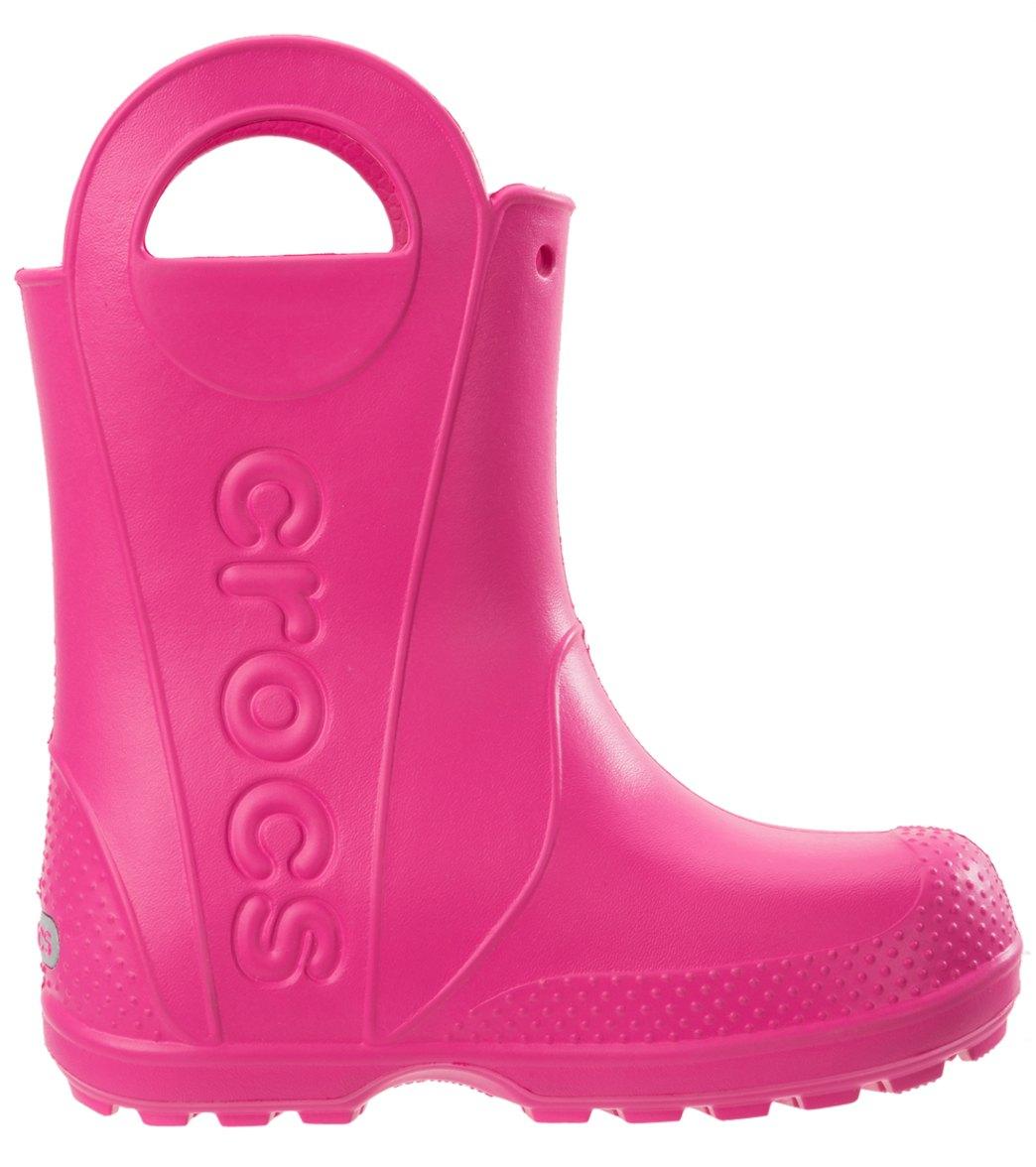 6e9f37d0c9de67 Crocs Kids  Handle It Rain Boot (Toddler Little Kid Big Kid) at ...