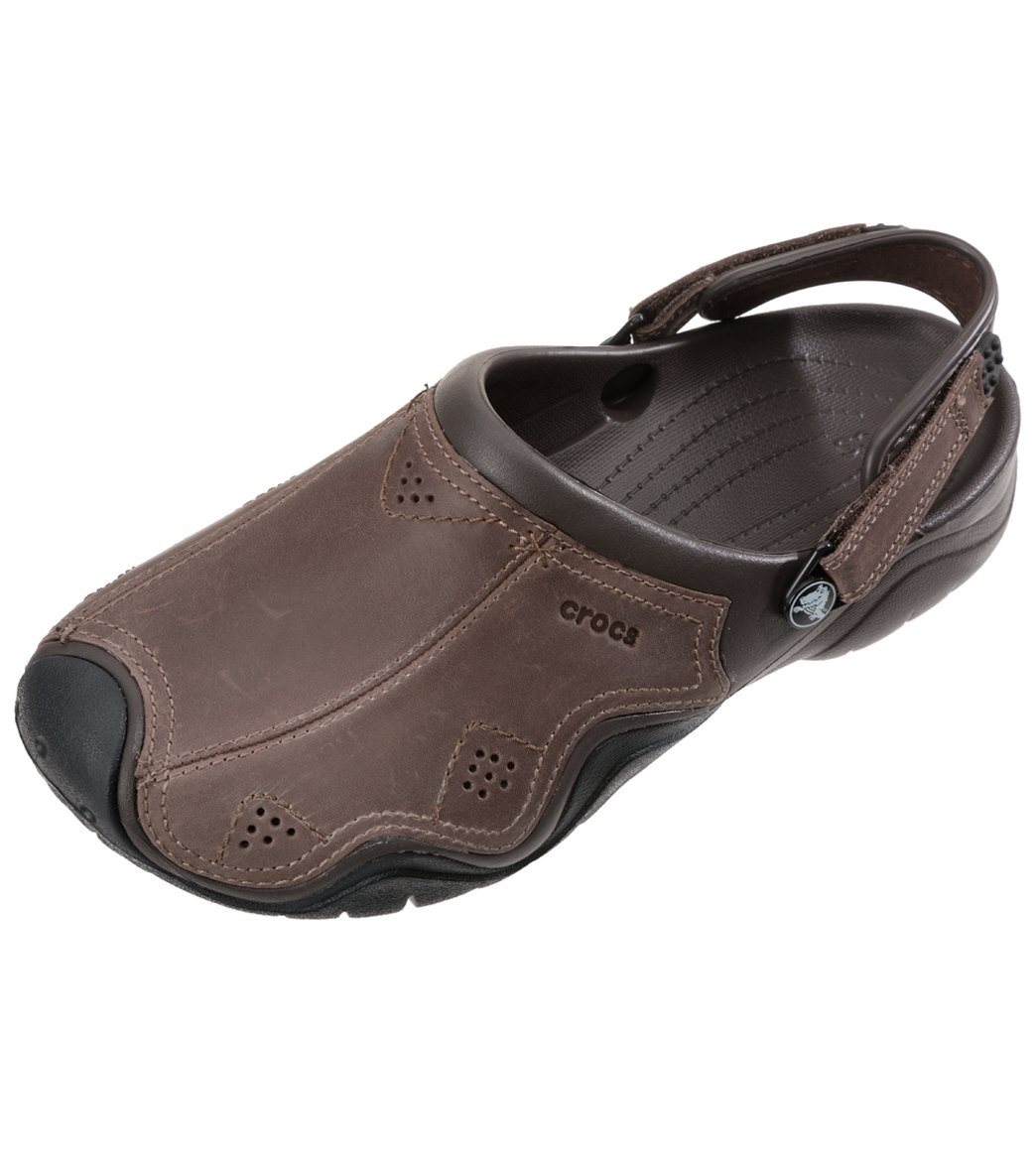 Men's Leather Men's Clog Crocs Swiftwater Clog Crocs Swiftwater Leather MpUSzV