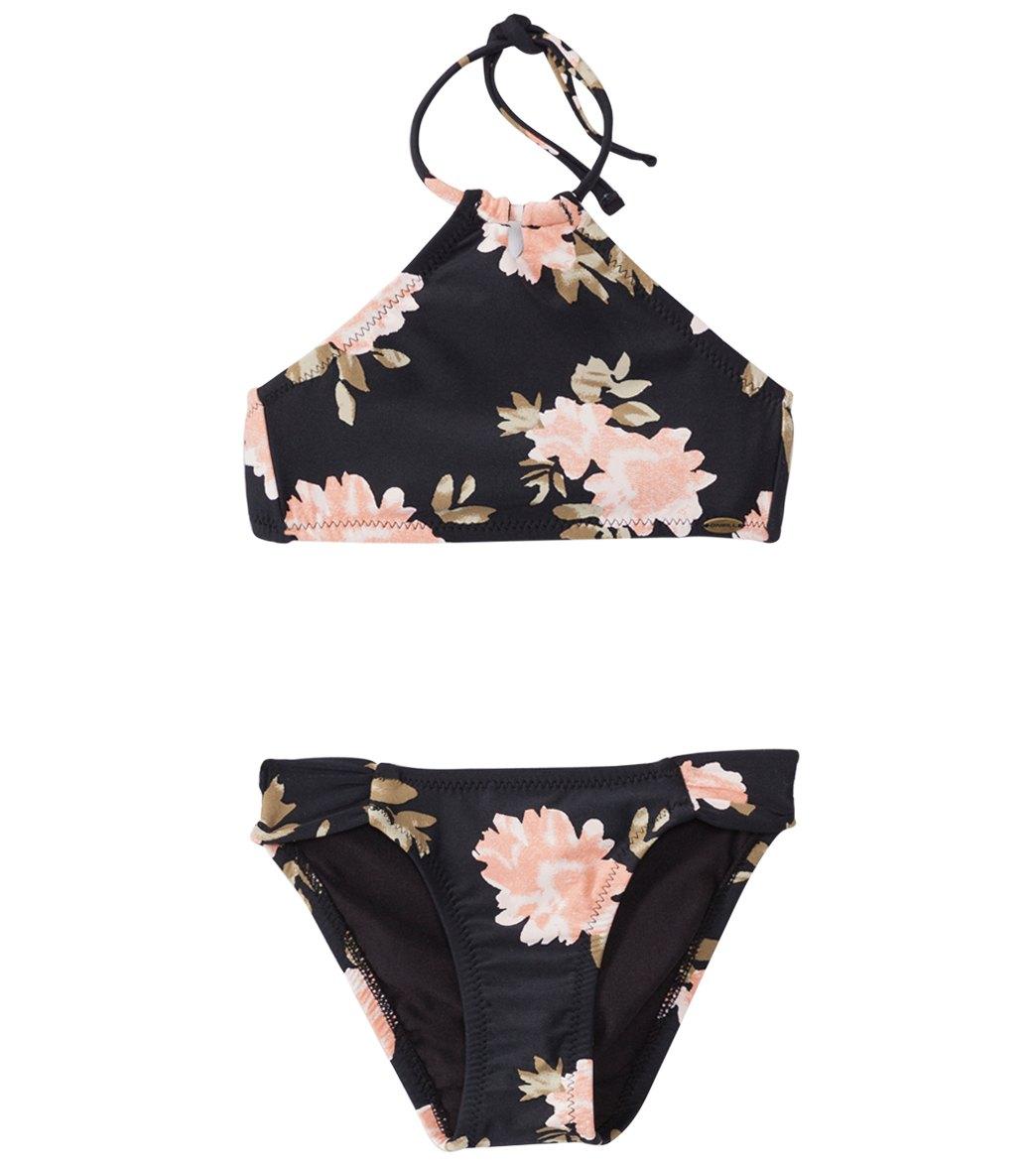 109fa02241 O'Neill Girls' Wildflower High Halter Bikini Set (4-14)