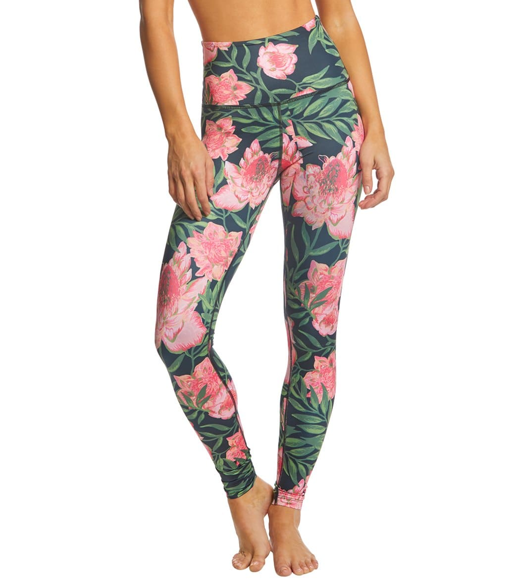 6f021c5f79dac6 Beyond Yoga Lux Printed High Waisted Yoga Leggings at SwimOutlet.com - Free  Shipping