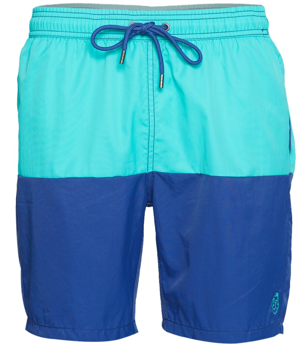 1fbe1b1e27 Mr.Swim Dale Color Block Swim Trunk at SwimOutlet.com - Free Shipping