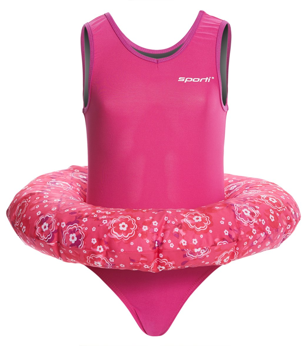 9857239646 Sporti Girls Learn to Swim Flotation Suit at SwimOutlet.com