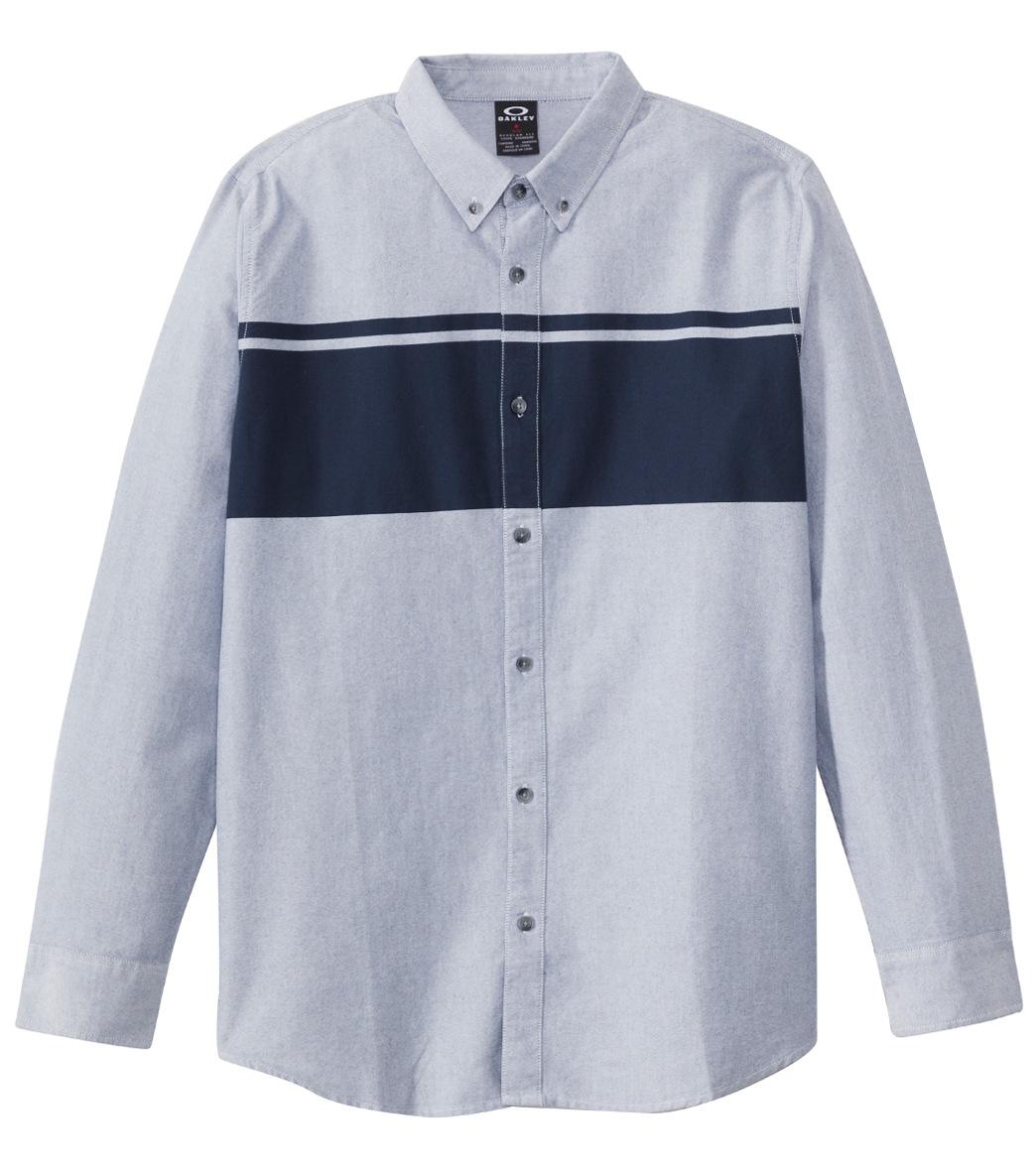 5b04ebf49f9d Oakley Men's Sims Woven L/S Shirt at SwimOutlet.com - Free Shipping