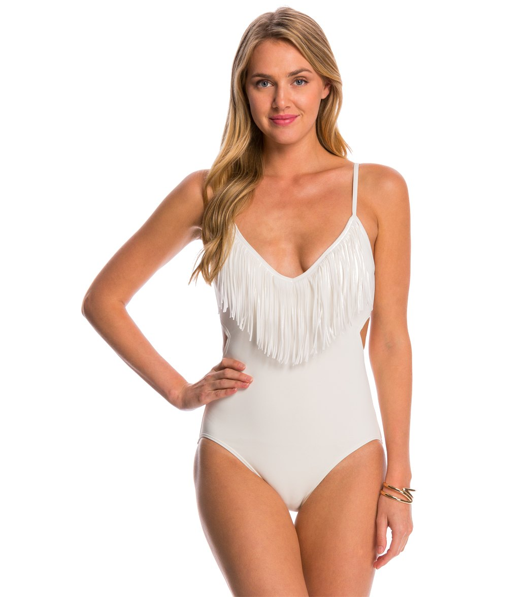 5c3d44ac84754 Vince Camuto Fringe One Piece Swimsuit at SwimOutlet.com - Free Shipping