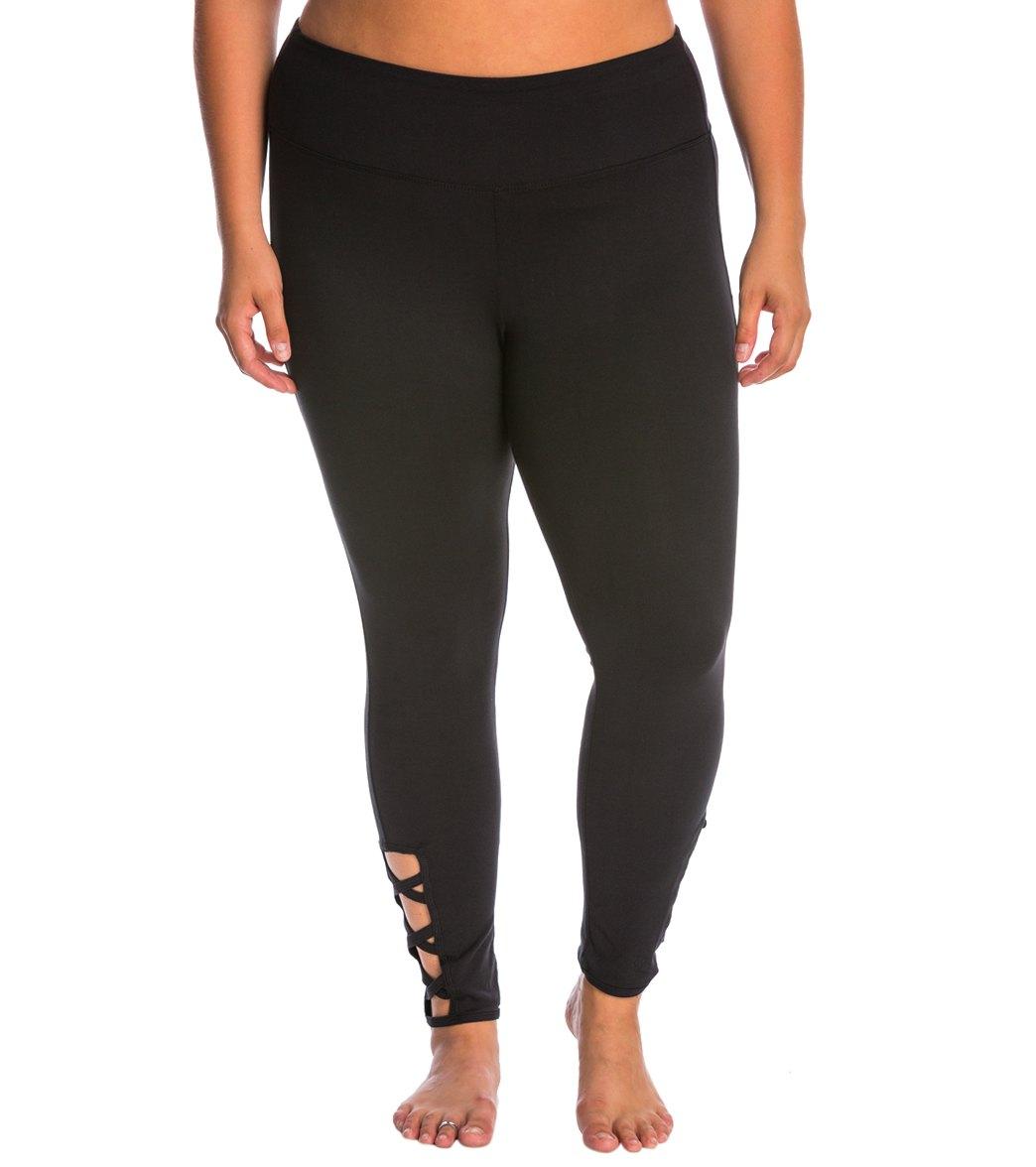 e5015bea1cacb5 Balance Collection Plus Size Lexi Fashion Yoga Leggings at SwimOutlet.com
