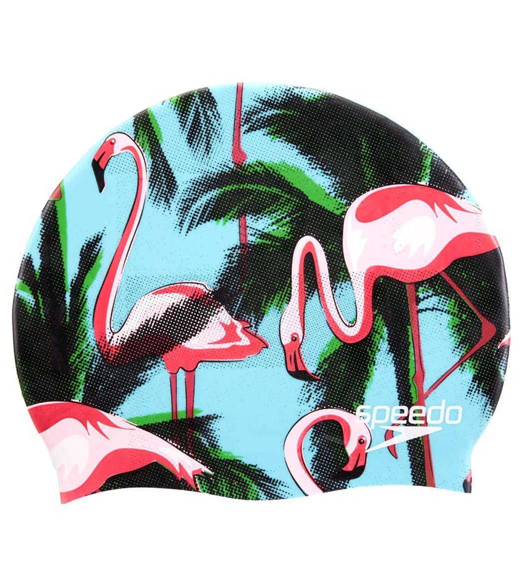 Speedo Elastomeric Flamingo Cocktail Swim Cap At