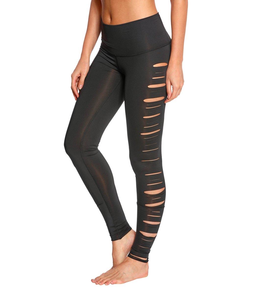 2415651f16a97 Teeki Laser Cut Shredded Jimi Hot Pants at YogaOutlet.com - Free ...