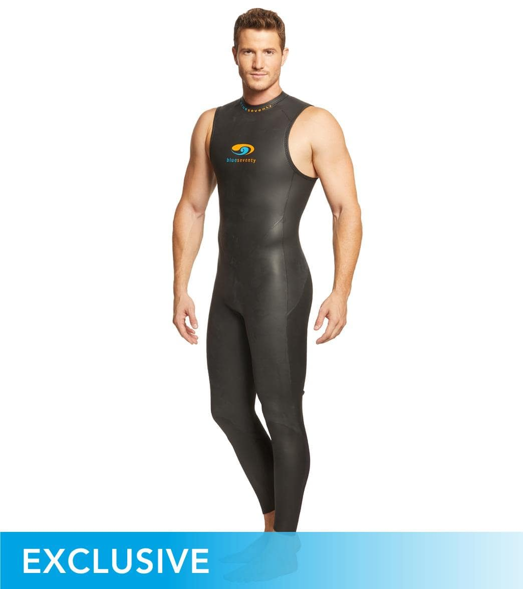 185d44a5ea Blueseventy Men's Exclusive Bolt Sleeveless Tri Wetsuit at SwimOutlet.com -  Free Shipping