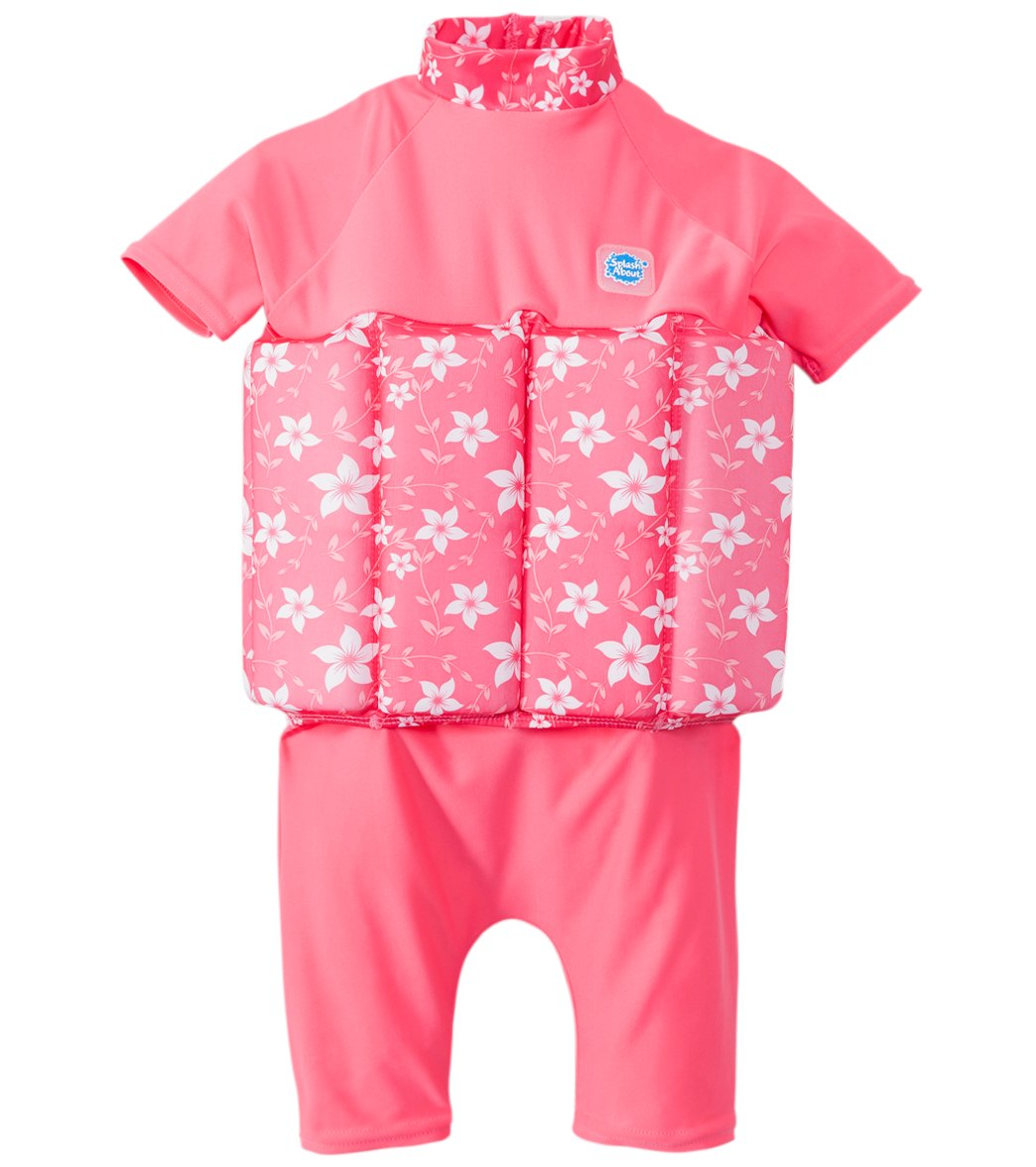 b8be31c6c0f22 Splash About Pink Blossom UV Float Suit (1-4 years) at SwimOutlet.com