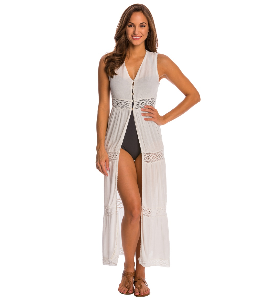 Boho Me Open Front Cover Up Maxi Dress at
