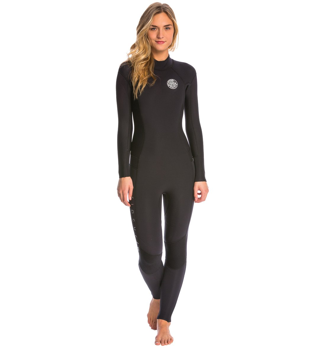52203cba7c4c Rip Curl Women s 3 2mm Dawn Patrol Back Zip Fullsuit Wetsuit at ...