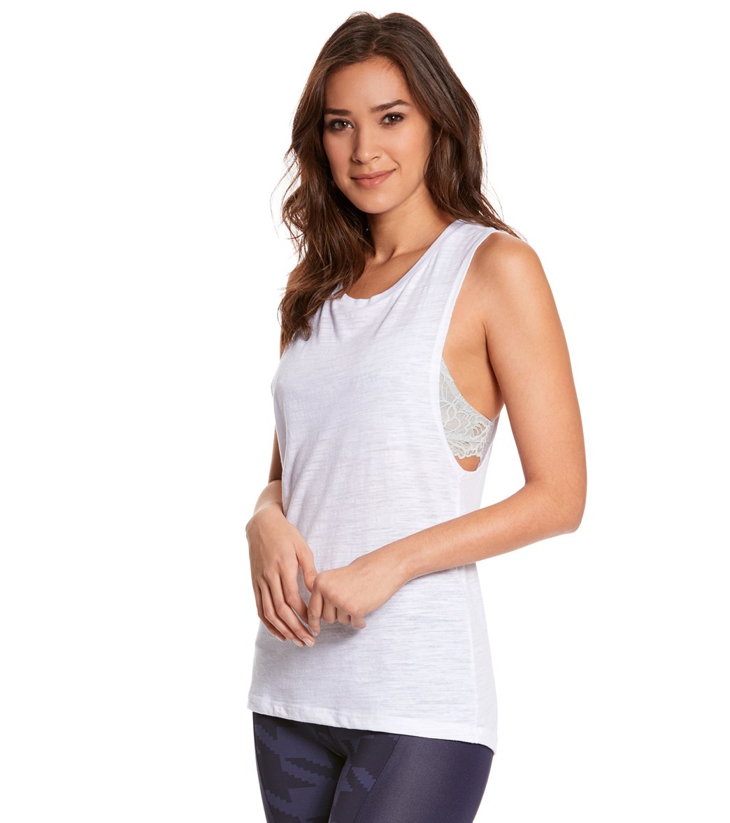 1c5bc4c12 Bella + Canvas Flowy Scoop Workout Muscle Tee at YogaOutlet.com