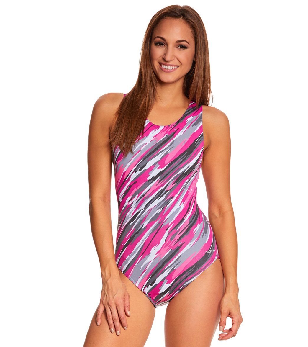 b6aff22b1ac ... Dolfin Aquashape Cascade Moderate Lap One Piece Swimsuit. Play Video.  MODEL MEASUREMENTS