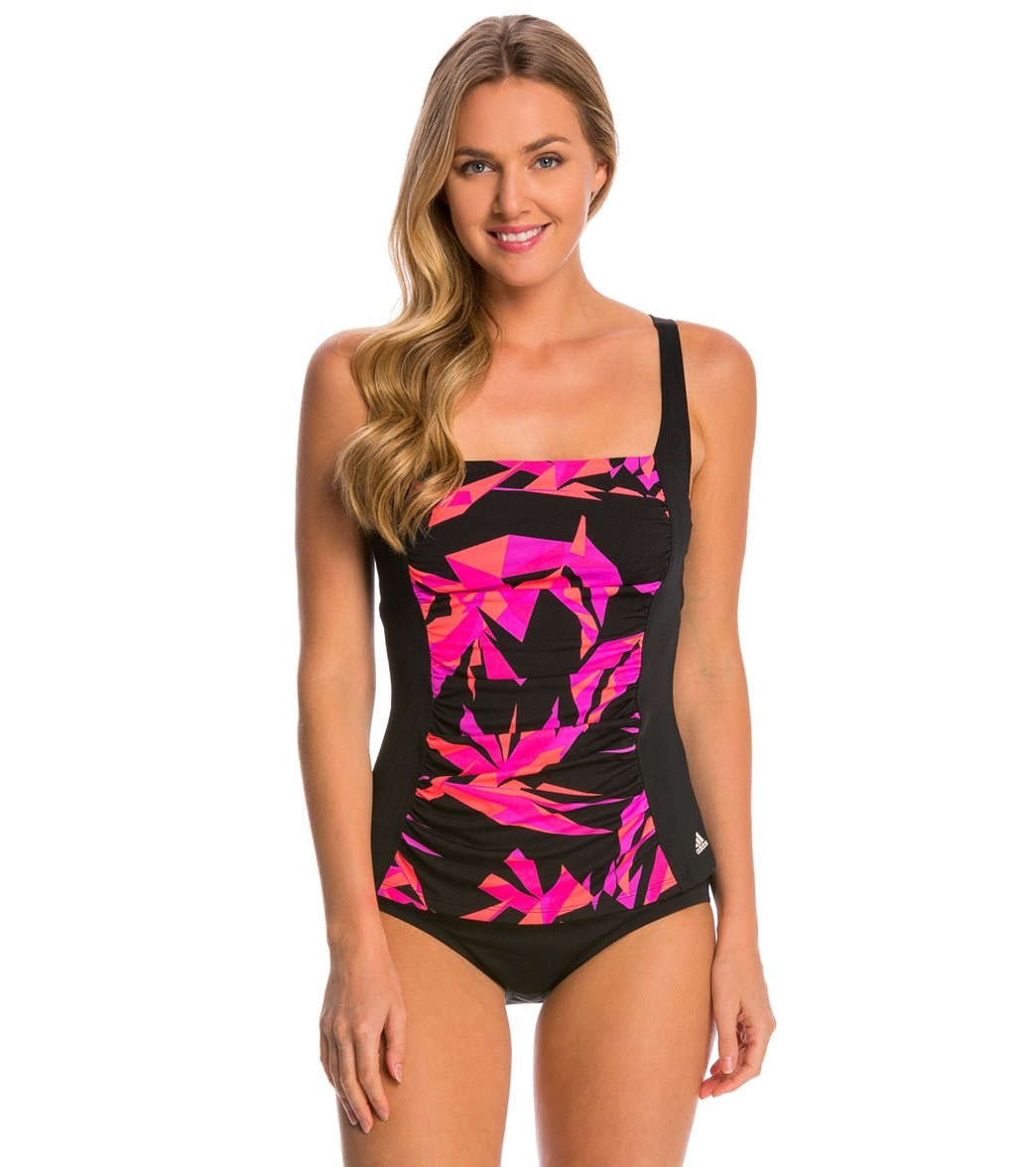 765d467b276e3 Adidas Women's Princess Seam Tankini Top at SwimOutlet.com - Free ...