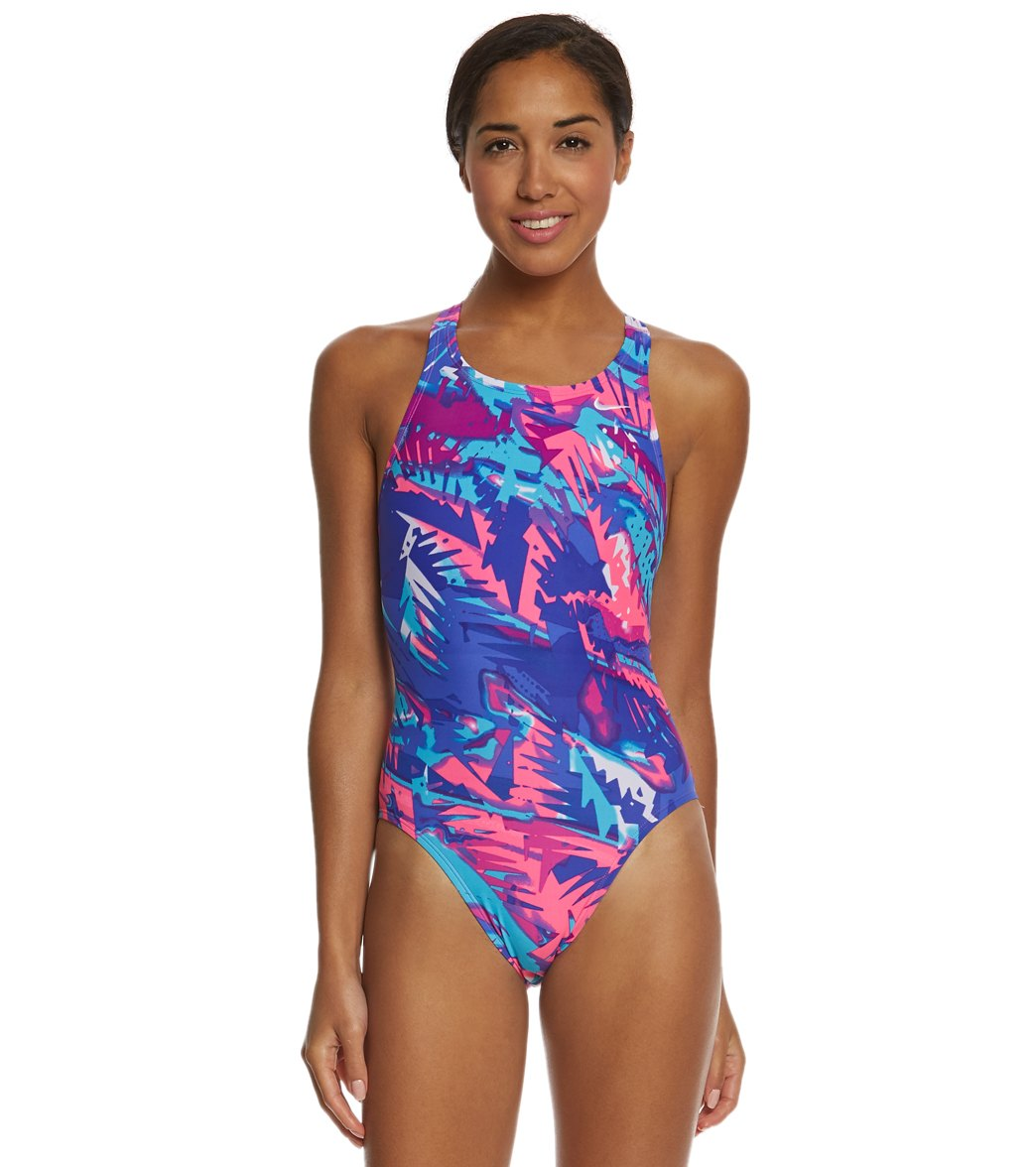 92ba78a9b92 Nike Women's Tropic Fastback Tank One Piece Swimsuit at SwimOutlet.com -  Free Shipping