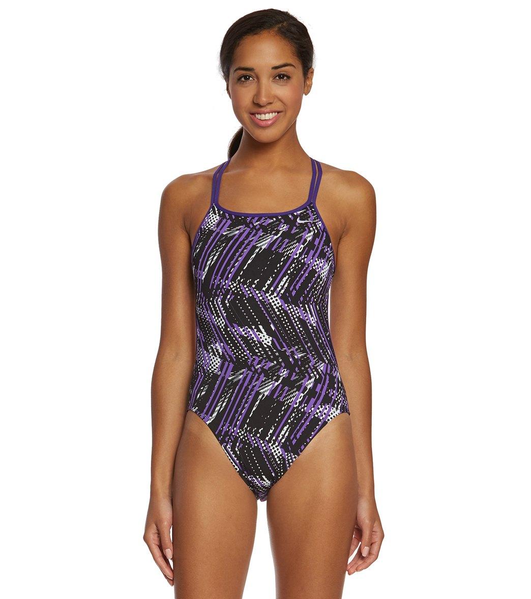 Nike Women's Shark Spiderback Tank One Piece Swimsuit