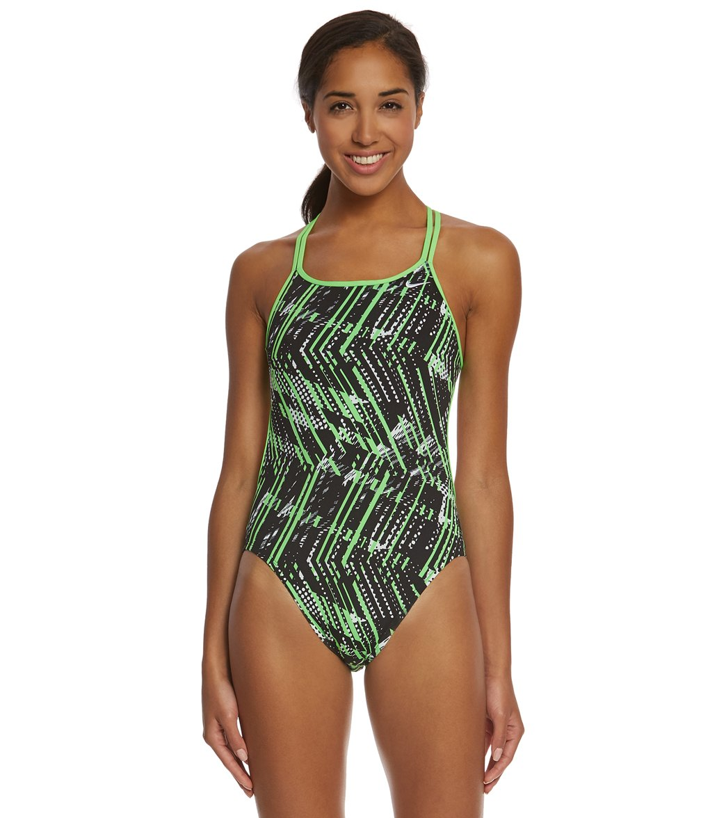 a967c659d4e Nike Women s Shark Spiderback Tank One Piece Swimsuit at SwimOutlet.com -  Free Shipping