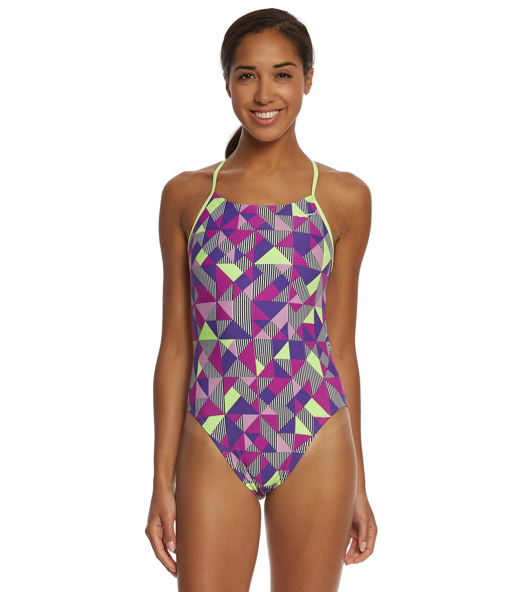 df9e56fafaf Nike SwimOutlet Exclusive Women s Optic Pop Cut-Out Tank One ...