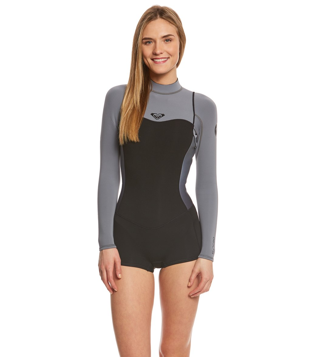 a7155bf0e1 Roxy Women s 2 2mm Syncro Back Zip L S Bootie Spring Suit Wetsuit ...