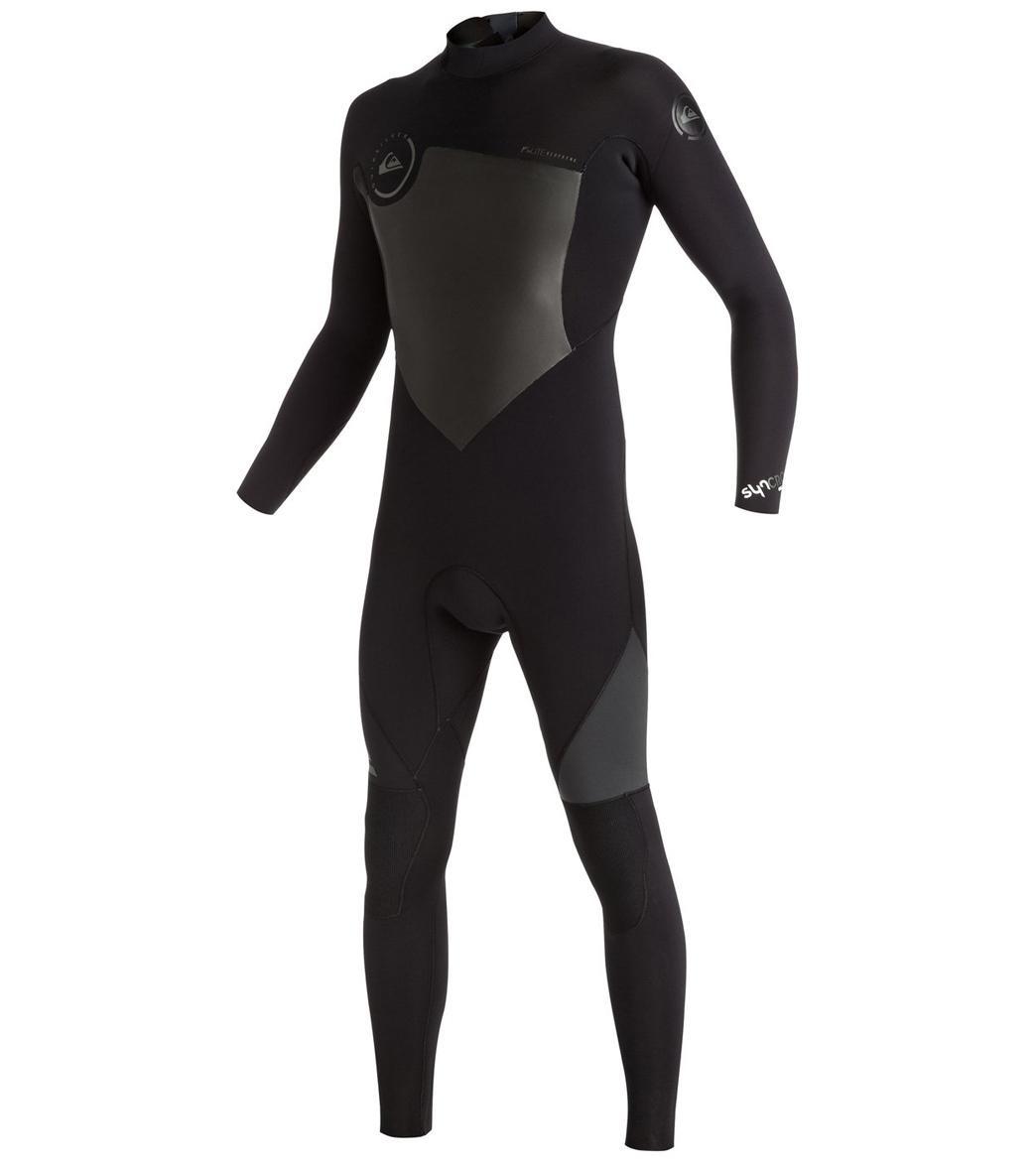 Quiksilver Men s 5 4 3mm Syncro Back Zip Fullsuit Wetsuit at ... aa745c8047a