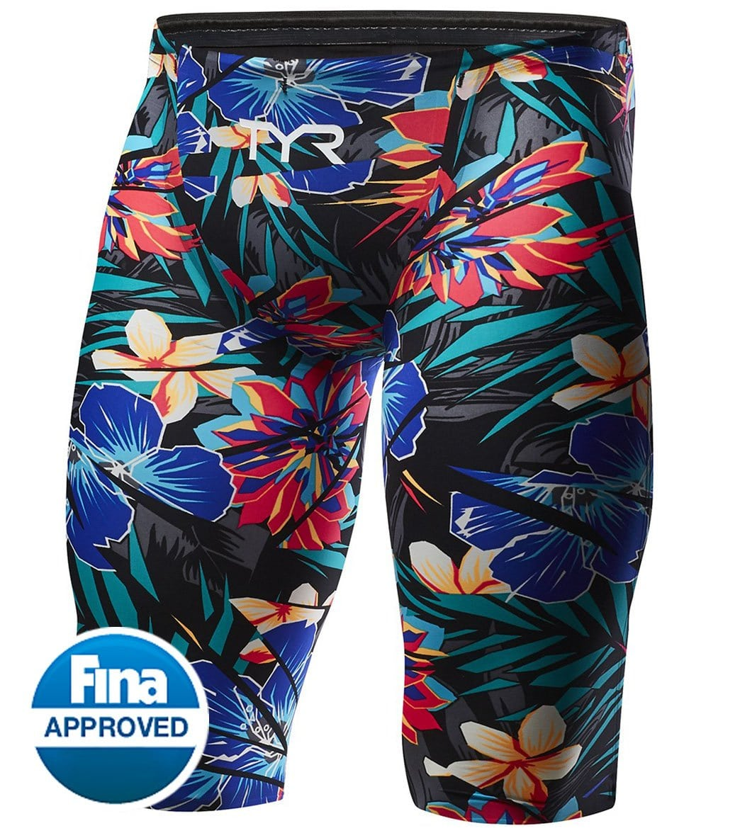 c4feff65b57 TYR Men's Limited Edition Lava Avictor High Short Jammer Tech Suit Swimsuit  at SwimOutlet.com - Free Shipping