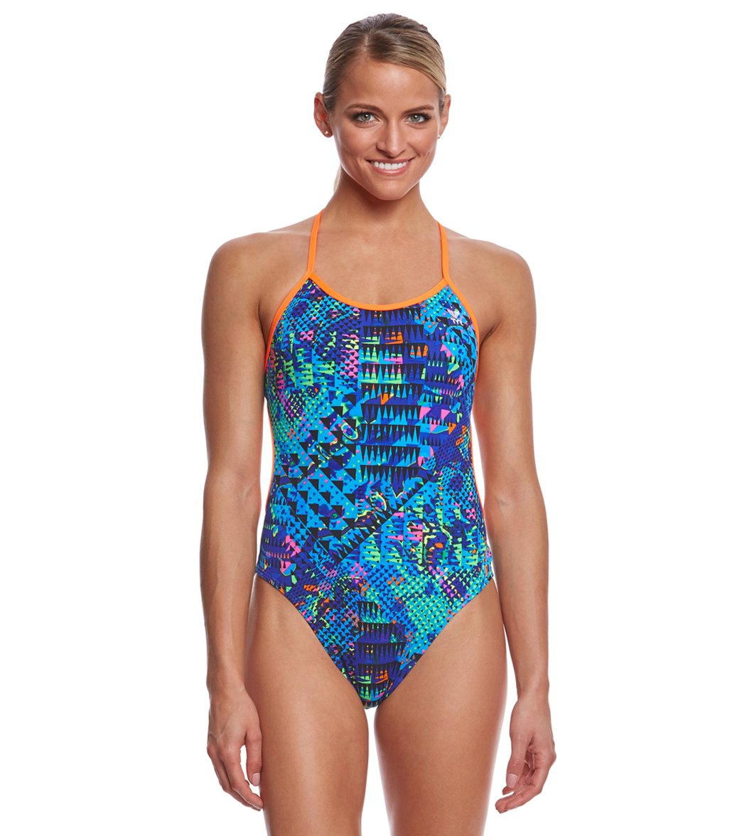 96350cd3b26aa TYR Women s Machu Crosscutfit Tieback One Piece Swimsuit at SwimOutlet.com  - Free Shipping
