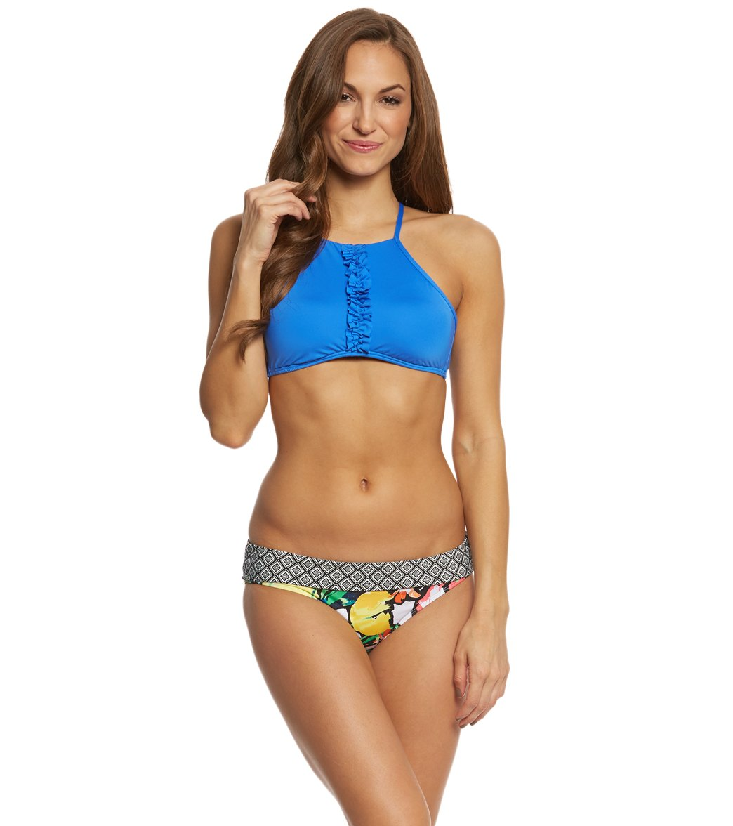 3cacf86c4d326 Kenneth Cole Reaction For The Frill Of It High Neck Bikini Top at ...