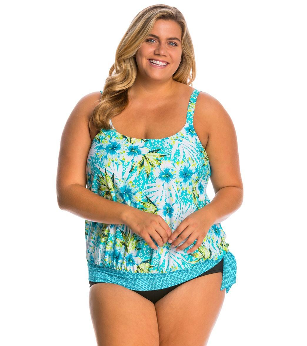 623e851b9a1 ... Beach House Plus Size Tybee Island Sarah Bouson Tankini Top Play Video.  Play Video