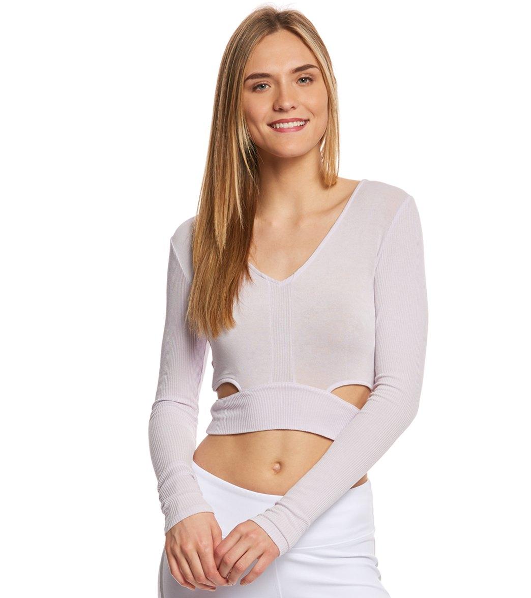 c6a9ab1a8 Alo Yoga Aura Long Sleeve Crop Top