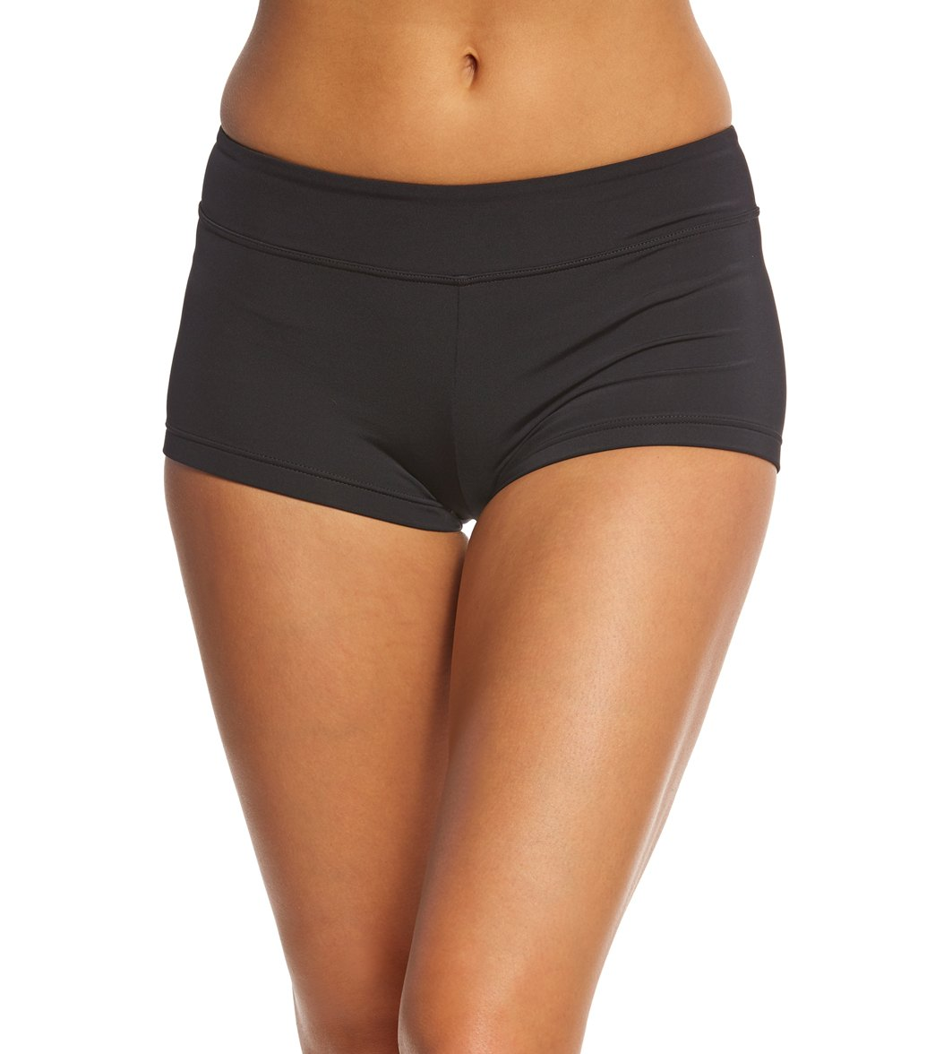 Seafolly Women's Active Essentials Ruched Back Boyleg