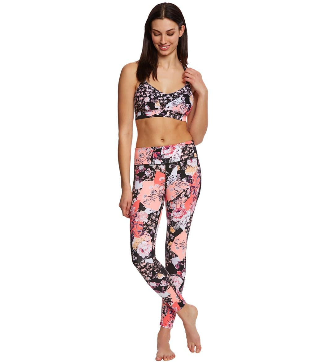 59f23eb7d6411 Seafolly Women s Ocean Rose Dance Bralette Fitness Top at SwimOutlet ...