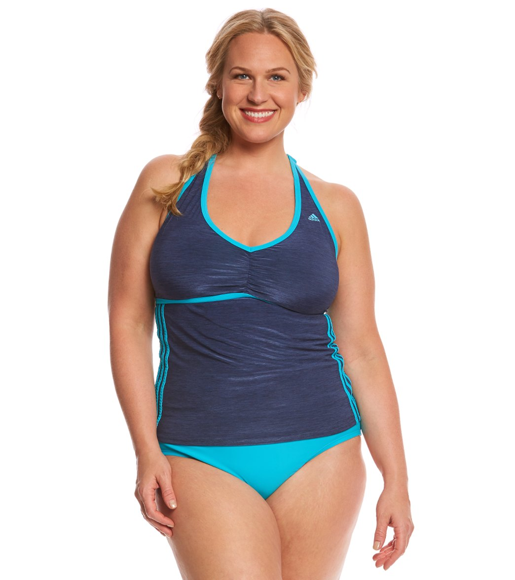 e073806ac6 ... Adidas Women's Plus Size Light as a Heather Sport Tankini Top. Play  Video. MODEL MEASUREMENTS