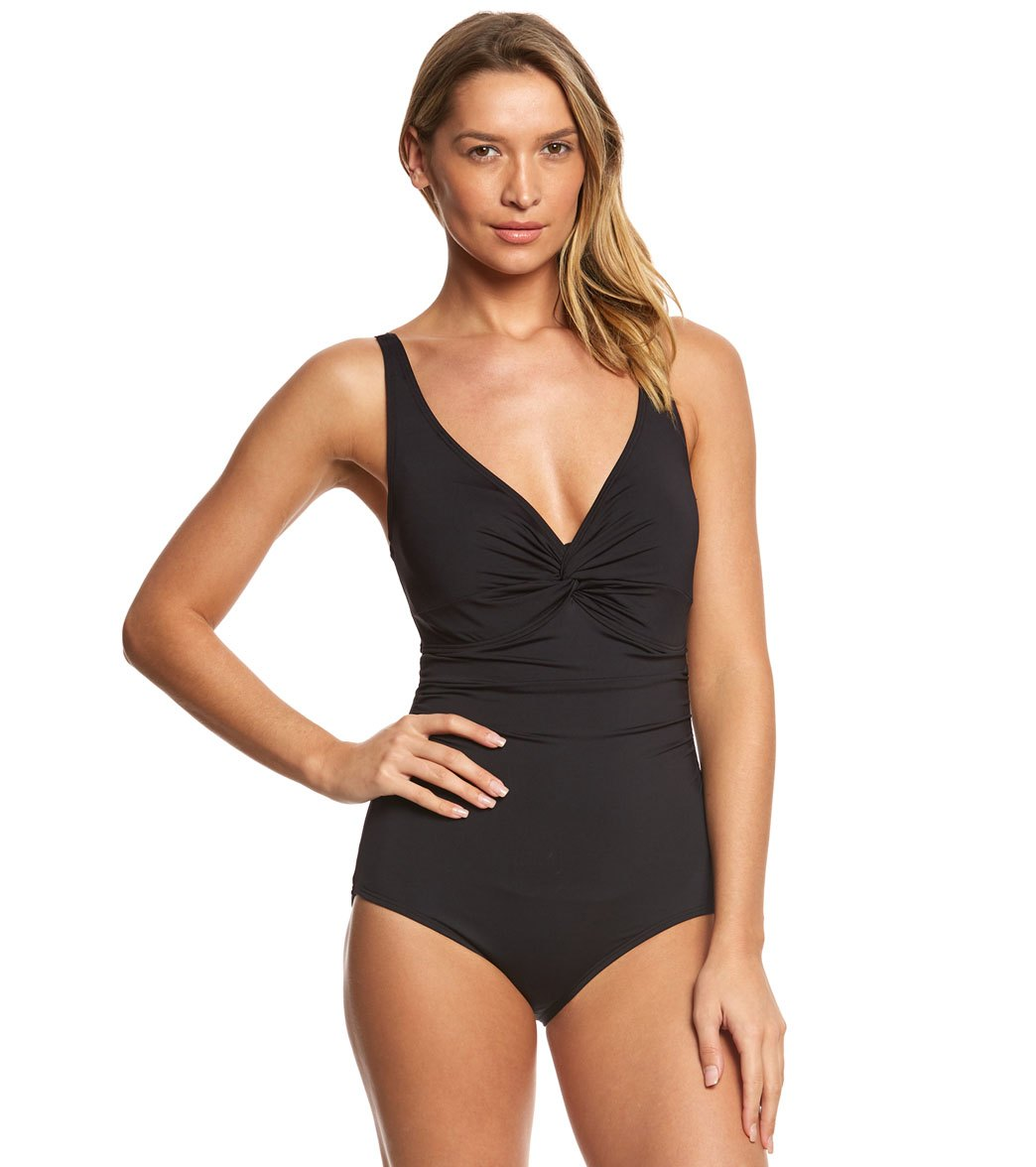 36c783705be8d Coco Reef Contours Keepsake Sapphire Twist One Piece Swimsuit (B/C Cup)