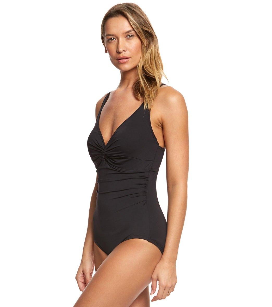 b04f8a76f10ac Coco Reef Contours Keepsake Sapphire Twist One Piece Swimsuit (B/C Cup)