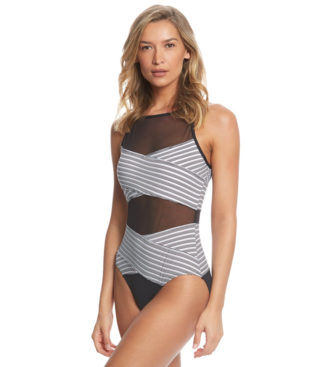 406a89b6eb Anne Cole Mesh One Piece Swimsuit at SwimOutlet.com - Free Shipping