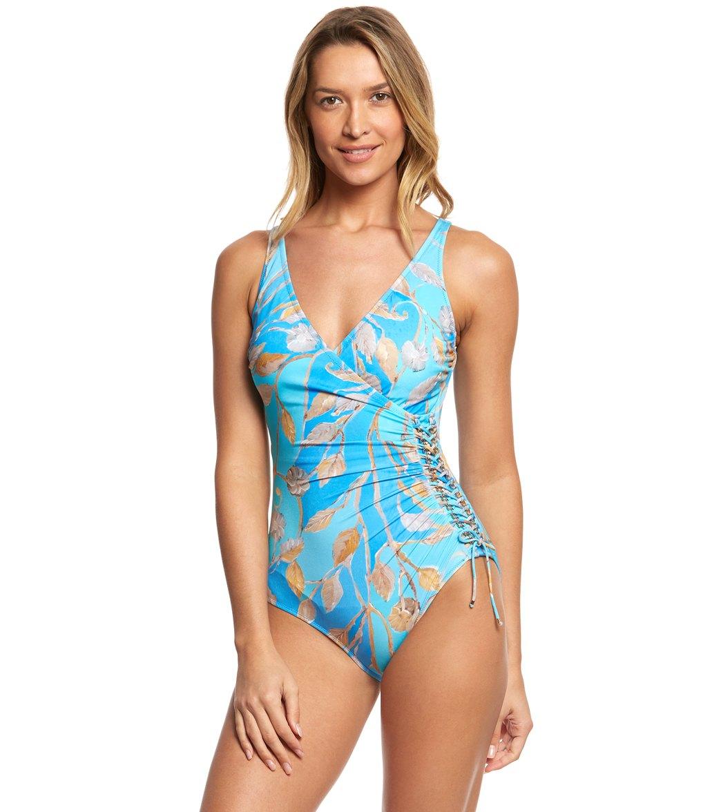 cc73c09f7efc Gottex Capri Surplice One Piece Swimsuit at SwimOutlet.com - Free ...