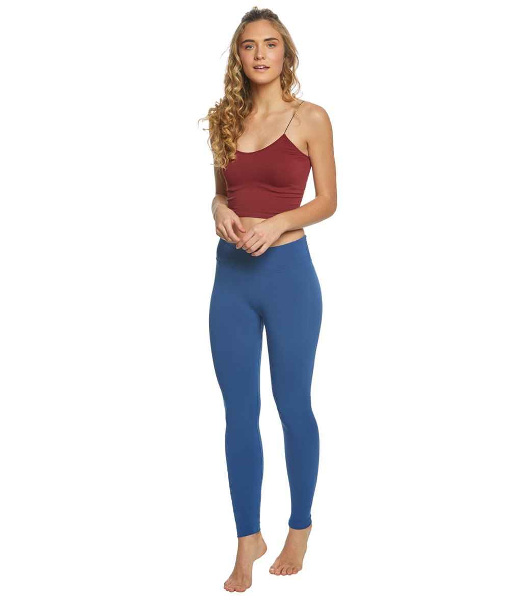 1f324582d96b9 Free People Seamless Skinny Strap Crop Top at YogaOutlet.com