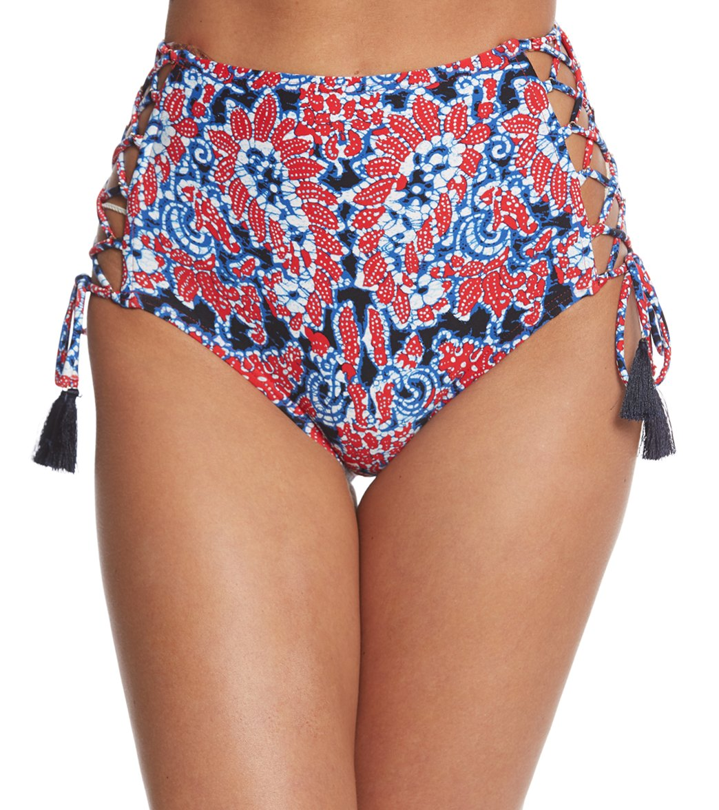 171ef338ffb68 Michael Kors Swimwear Angelina Lace Up High Waist Bikini Bottom at  SwimOutlet.com - Free Shipping