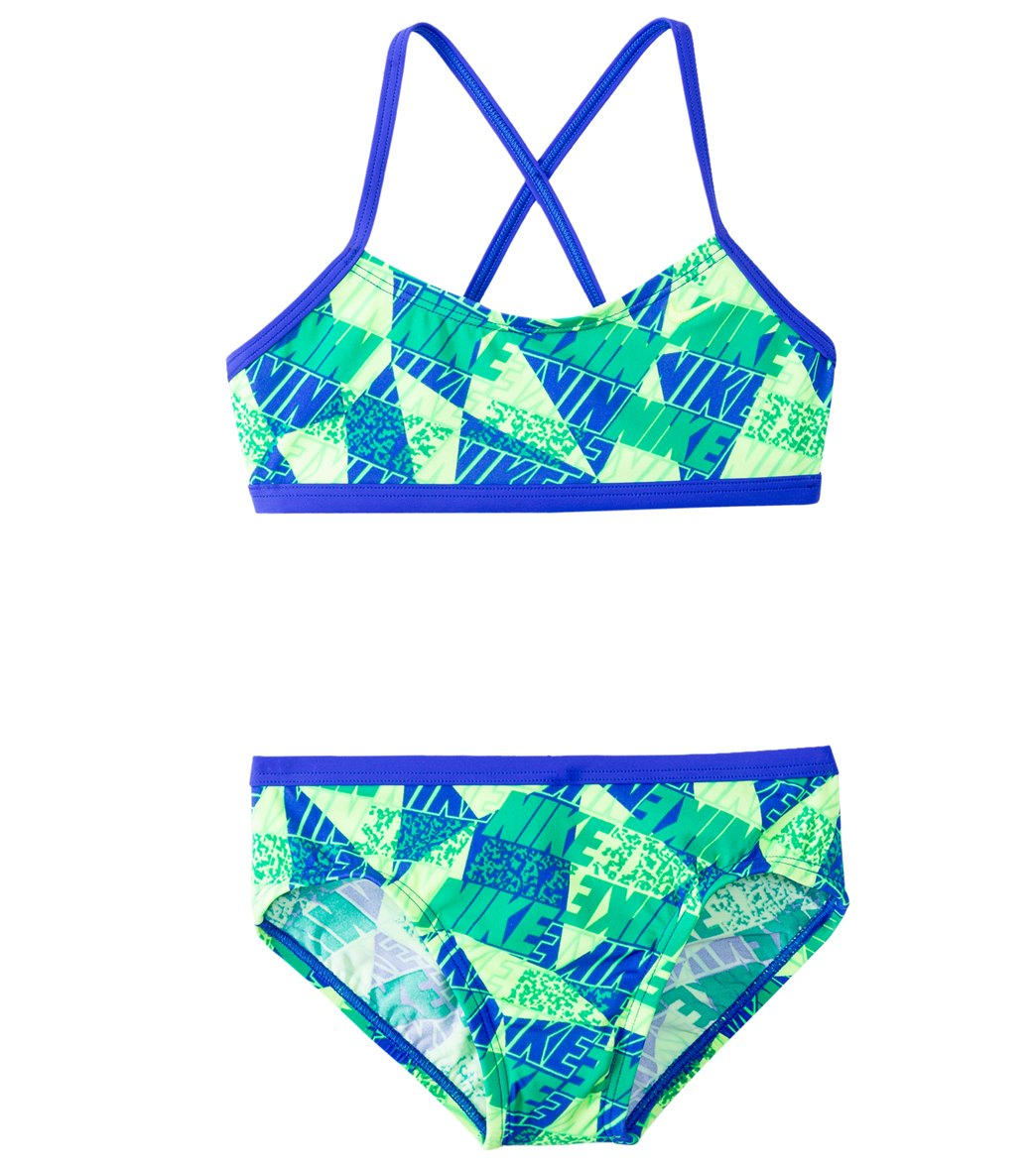 8d01b9edf8 Nike Swimwear Girls' Graphic Crossback Bikini Set (7-14) at SwimOutlet.com
