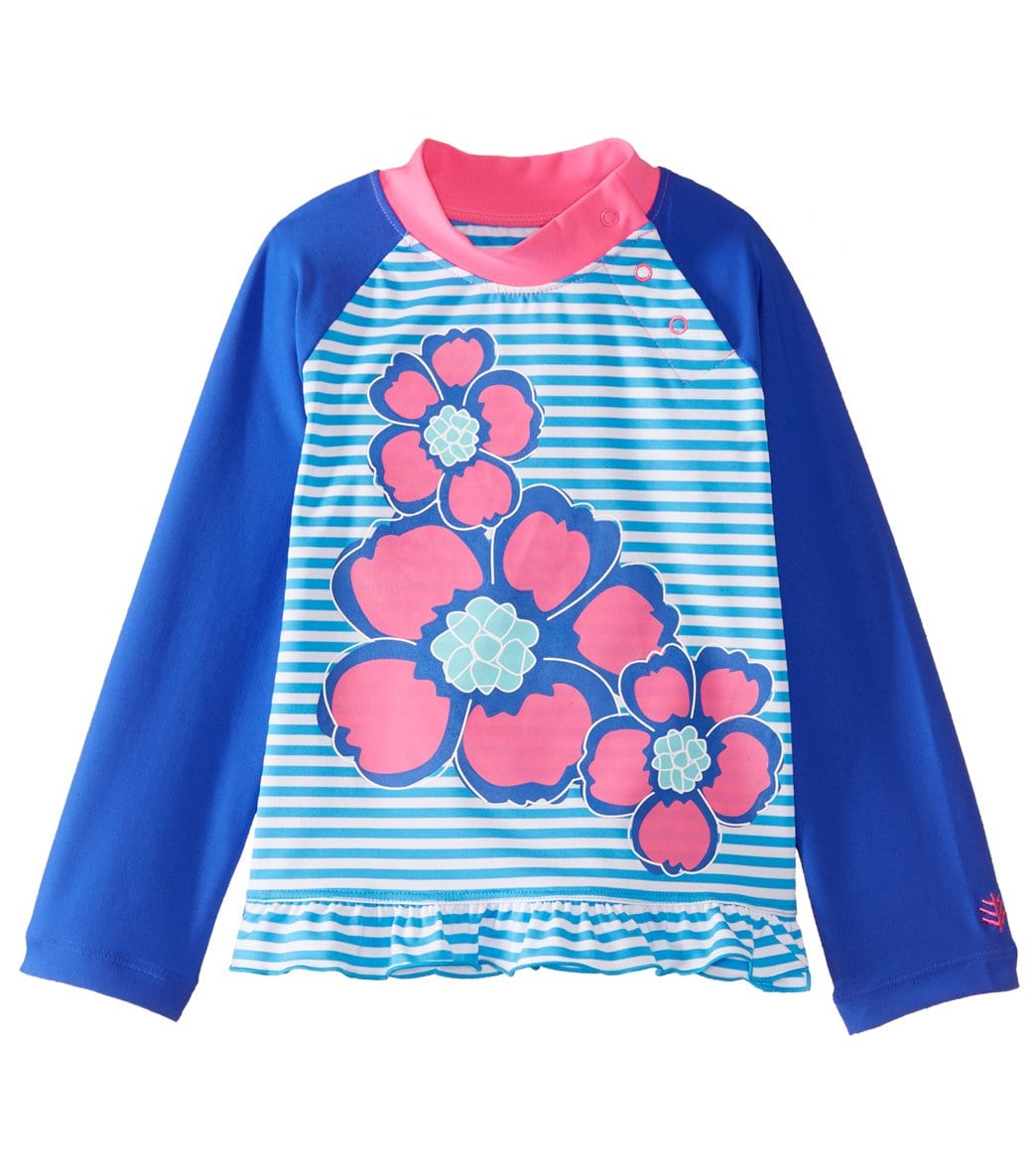 ea9219d8d9266 Coolibar Girls' UPF 50+ Ruffle Swim Shirt (6mos-3T) at SwimOutlet.com